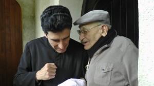 Le Père Pierre avec le Père Michel Marie Zanotti Sorkine